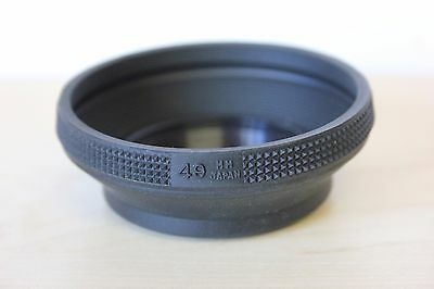 49mm Collapsible Screw In  Rubber Camera Lens Hood. UK SELLER