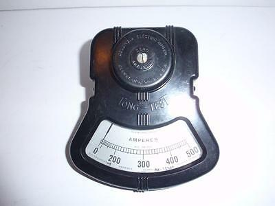 Columbia Electric TONG-TEST AX-35300 0-500 Amperes Meter - SteamPunk Collectible