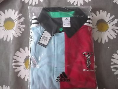 Harlequins Home Rugby Union Shirt L Size Adidas Make Bnwt