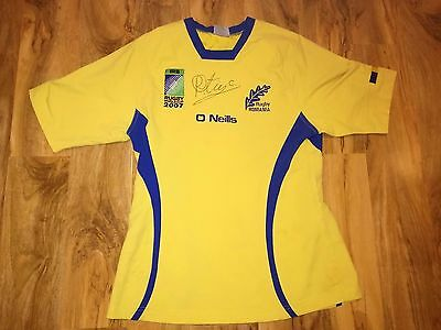 Rare Romania Rugby World Cup 2007 Signed Match Worn Rugby Shirt/jersey/maillot