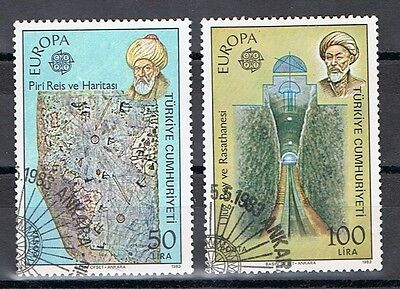 Turkey  2246-47  Used   EUROPA, EXCELLENT CENTERING 1983
