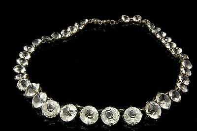 Antique Victorian Diamond Paste French Cut Riviere Choker Necklace (041117095)