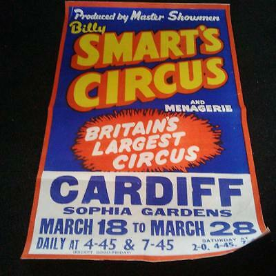 old 1960s Billy Smarts circus poster