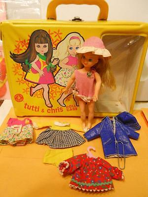TUTTI & CHRIS CASE DOLL CLOTHES LOT1967 Puddle Clowning Jumpin Barbie