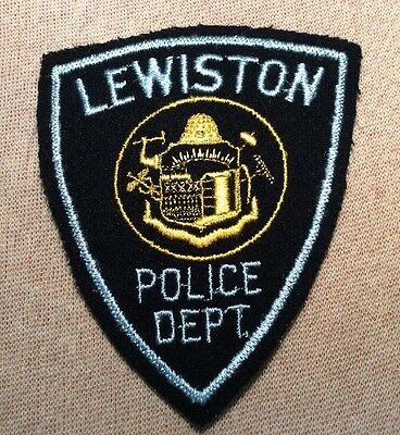 ME Lewiston Maine Police Patch (Felt)