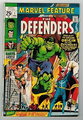 MARVEL FEATURE Presents The DEFENDERS #1 - ORIGIN/1st APP - MARVEL COMICS/1971