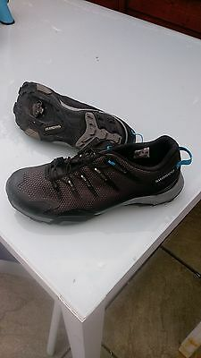 Shimano cycling shoes black/grey size 10;used twice in excellent condition,