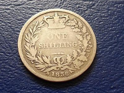 William Iiii Sterling Silver Shilling 1836 Great Britain Uk