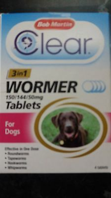 BOB MARTIN CLEAR 3IN1 WORMER FOR DOGS UP TO 40kg