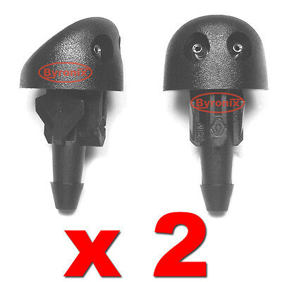 Renault Clio Mk2 Windscreen Washer Jets Nozzle Water Spray Jet X2 Front