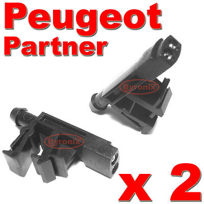 Peugeot Partner Front Windscreen Washer Jets Water Nozzles  X 2