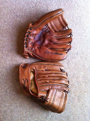 Two Vintage Sonnett Baseball Gloves Button Fastener Excellent condition
