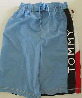 NWT Tommy Hilfiger Boys Kids Swim Shorts Trunks Board Shorts Blue Size S