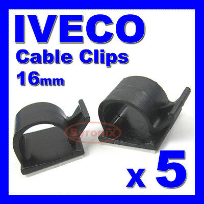 IVECO SELF ADHESIVE CABLE CLIPS WIRING WIRE LOOM HARNESS 16mm HOLDER CLAMP