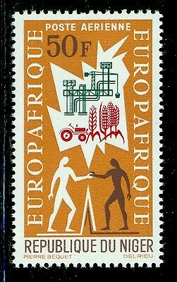 Niger MNH Selections: Scott #C43 50Fr EUROPAFRIQUE Agriculture Industry $$