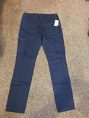 "Michael Kors Mens Navy Cargo Pants W32"" L34"" Bnwt 1023"