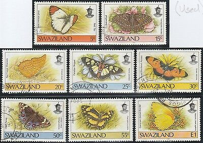 Swaziland Stamps 1992 Selection of 8 Butterflies Fine Used