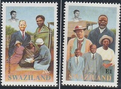 Swaziland Stamps 1992 Centenary of Evangelical Alliance Mission SG 620-621 (MNH)