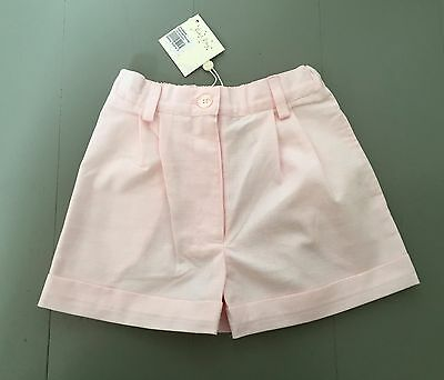 BNWT RACHEL RILEY Girls Pale Pink Cotton Tailored Shorts 3 Years Immaculate