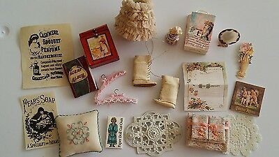 1 inch scale victorian dollhouse miniatures mixed lot