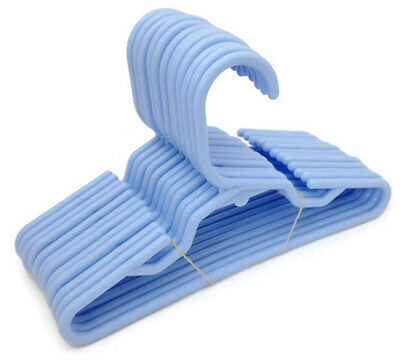 12 Lt Blue Plastic Hangers(1 Dz) fits 18 inch American Girl Doll Clothes
