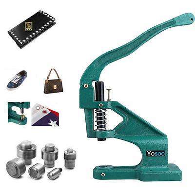 Eyelet Machine Punch Presser Tool Kits Vinyl Banner Grommets with 3 Die Setter