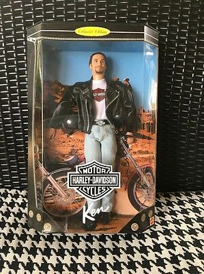 NIB Ken Barbie-Harley Davidson Motorcycles! Collector's Edition! Awesome! New!