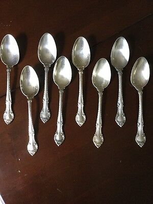 8 GORHAM English Gadroon Sterling Silver Teaspoons