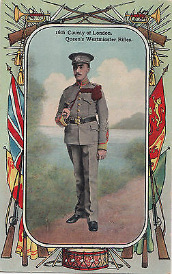 British Army 16th County of London Queen's Westminster Rifles 1908-13 Patriotic