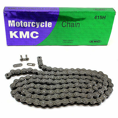 """KMC 415 H Motorcycle Heavy Duty Drive Chain 120 Link 1/2"""" Pitch Tomos A35 A55 A3"""
