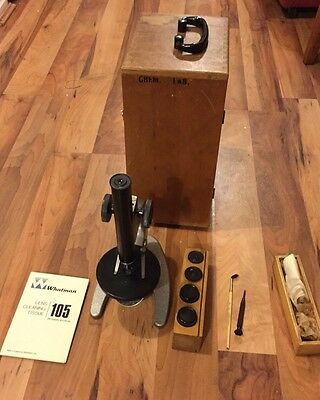 Great Vintage Wm1 Ussr Microscope With Case And Lenses