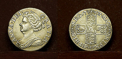 Great Britain - Sixpence 1707 - UK - Queen Anna