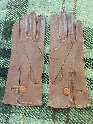 Lovely Pair Of Vintage Dents D Grain Leather Ladies Gloves- 8