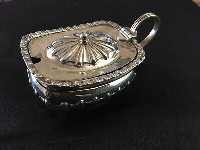 Beautiful Solid Silver Mustard Pot