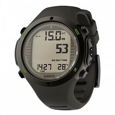 Suunto D6i Novo Stealth Elastomer With USB Computers Brand New UK/EU Warranty