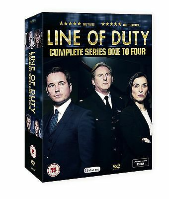 Line Of Duty Series 1-4 Complete Box Set Dvd New And Sealed Region 2 Uk