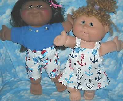 "Lot DOLL Clothes 14"" CABBAGE PATCH PLAY ALONG & Jakks  JULY PLAY CLOTHES"