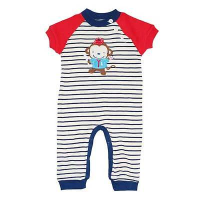 Monkey Baseball Player Bodysuit Coverall  Jumpsuit One piece 0-9 months