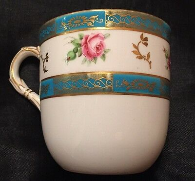 Stunning Antique Royal Worcester Hand Painted Cup - 8.5cm Tall
