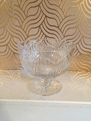 Stunning Royal Brierley Cut Glass Pedestal Fruit Bowl - Signed & Boxed