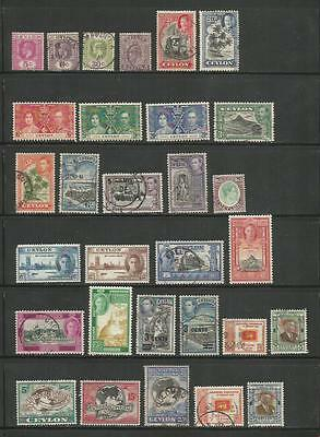 Ceylon/sri Lanka – Collection Of 80 Different – 1912-1984 – Mint & Used