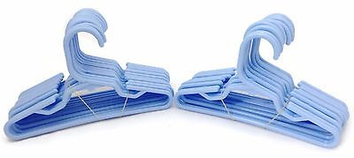 24 Lt Blue Hangers(2 Dz) fits 18 inch American Girl Doll Clothes