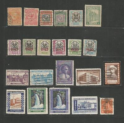 Dominican Republic – Collection Of 38 Different – 1885-1961 – Mint & Used