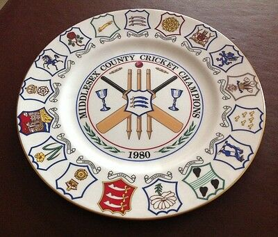 Coalport Bone China Collectors Plate - Middlesex County Cricket Champions 1980