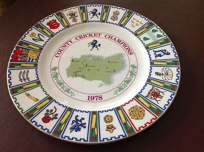 Coalport Bone China Collectors Plate - Kent County Cricket Champions 1978