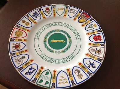 Coalport Bone China Collectors Leicestershire County Cricket Champions 1975