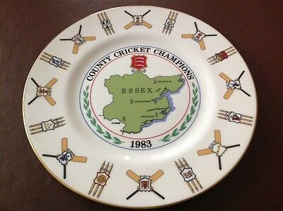 Coalport Bone China Collectors Plate - Essex County Cricket Champions 1983