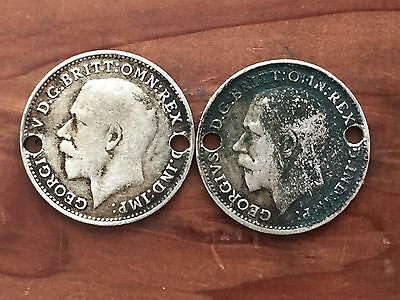 UK / Great Britain 3d Threepence 1920, George V - Silver