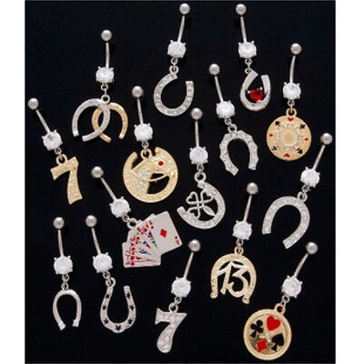 10pc Lucky Charms Mix Belly Rings Navel naval Wholesale Lot (B36)