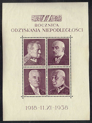 Poland Scott#333 Mint Never Hinged Souvenir Sheet